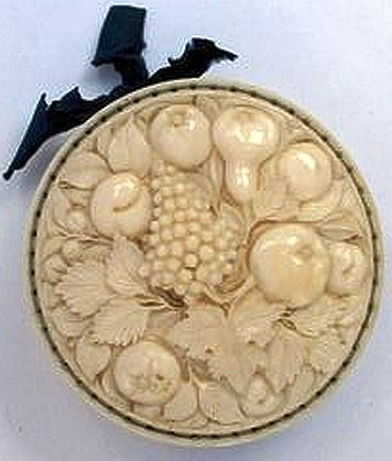 French Carved ivory Pin Wheel. Probably Dieppe Work, Circa 1840.