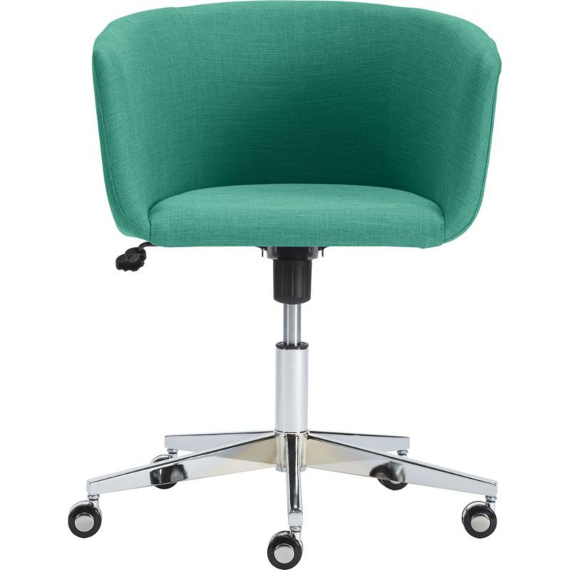 Coup Teal Office Chair With Its, Home Goods Chairs On Wheels