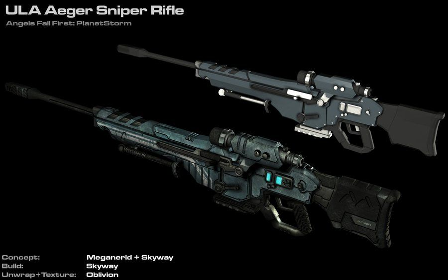 ula aeger sniper rifle by astepintooblivion on deviantart sci fi weapons pinterest weapons. Black Bedroom Furniture Sets. Home Design Ideas