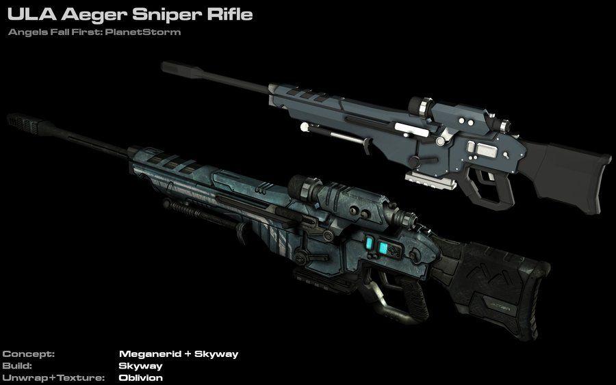 ula aeger sniper rifle by astepintooblivion on deviantart sci fi weapons pinterest weapons. Black Bedroom Furniture Sets. Home Design Ideas