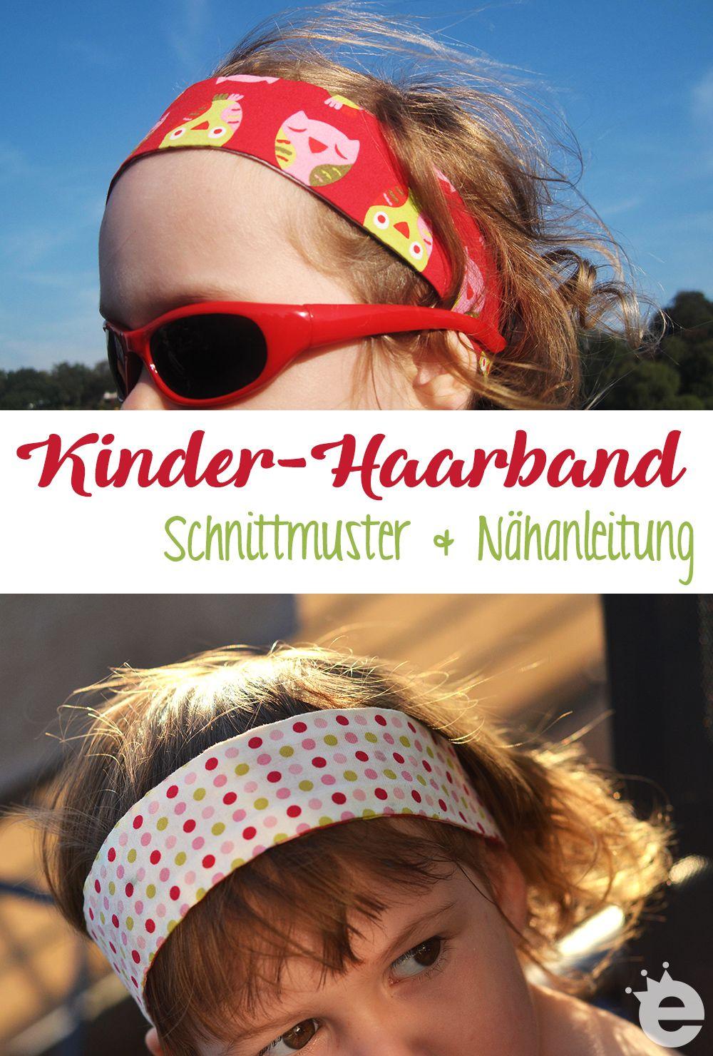 Haarband nähen: Schnittmuster und Tutorial | Gratis schnittmuster ...