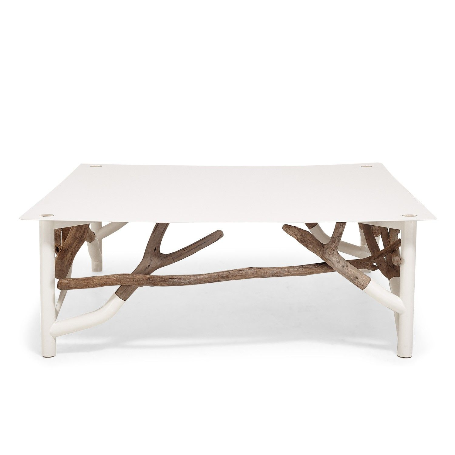 White Driftwood Coffee Table: Ash & Elm Driftwood Cocktail Table
