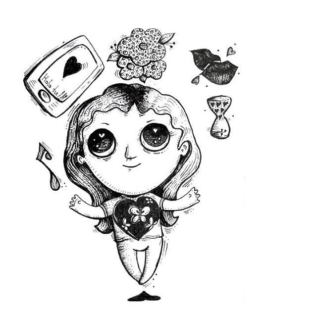 ¡Ah! ❤. . . . #ilustracion #illustration #drawing #gif #sketchbook #garabato #doodles #artist #instaart #handdraw #love #modernart #pendrawing #instartist #instaartworks #instaartist #artoftheday #instaillustration #musica #artcollective #artofinstagram #art #rapidografo #lineart #creative #penart #heart #video #blackandwhite #bogotart