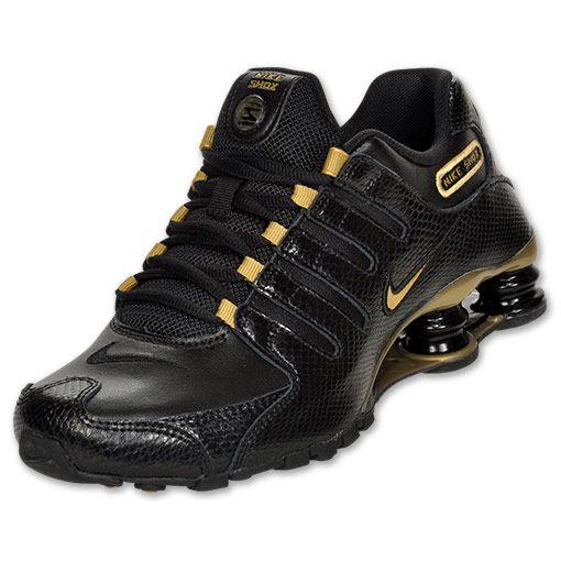 Tênis Femininos Tênis Nike Shox Nz Eu Feminino Preto E Dourado ... abd45bfe3b85