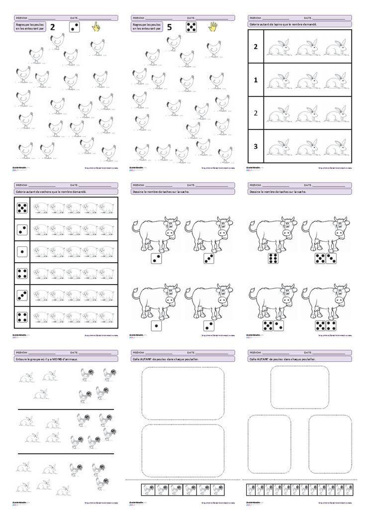Bien-aimé 27 fiches d'exercices mathématiques pour la maternelle (PS - MS  RY47