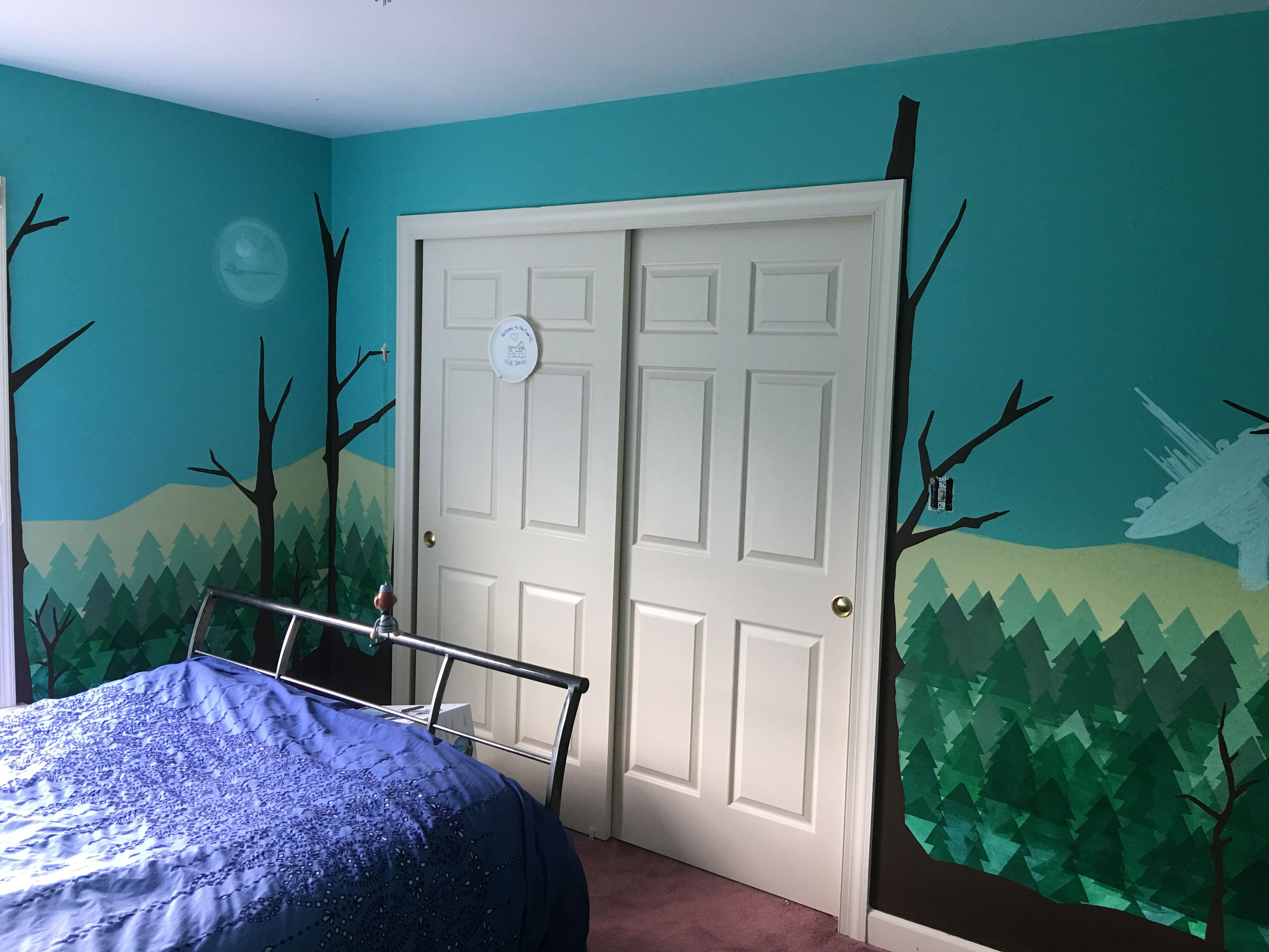 I painted this mural of Star Wars - Forest of Endor