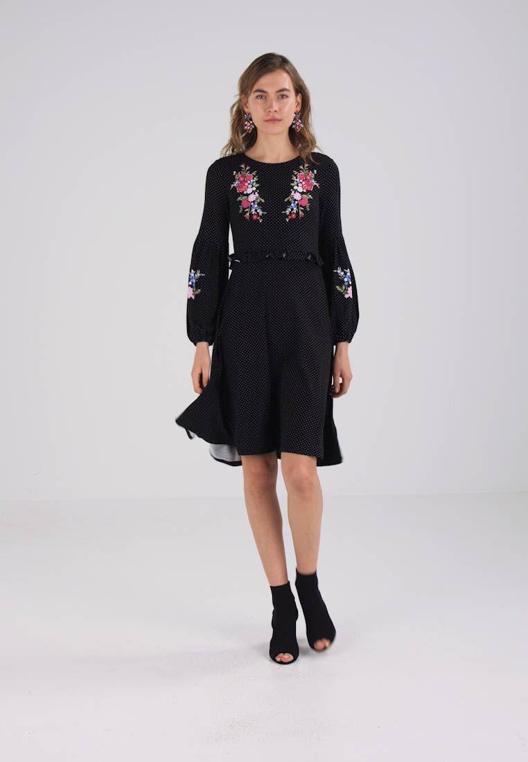 a45a2435f6 Dorothy Perkins EMBROIDERED MIDI - Sukienka letnia - black za 149 zł  (24.02.18) zamów bezpłatnie na Zalando.pl.