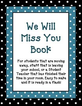 Have a student that is moving away is a staff member - One of your students left their book on the table ...