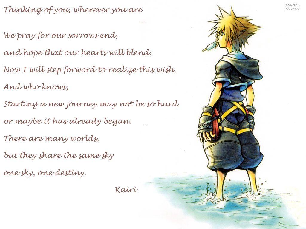 Quotes | Kingdom hearts, Kingdom hearts quotes, Kingdom