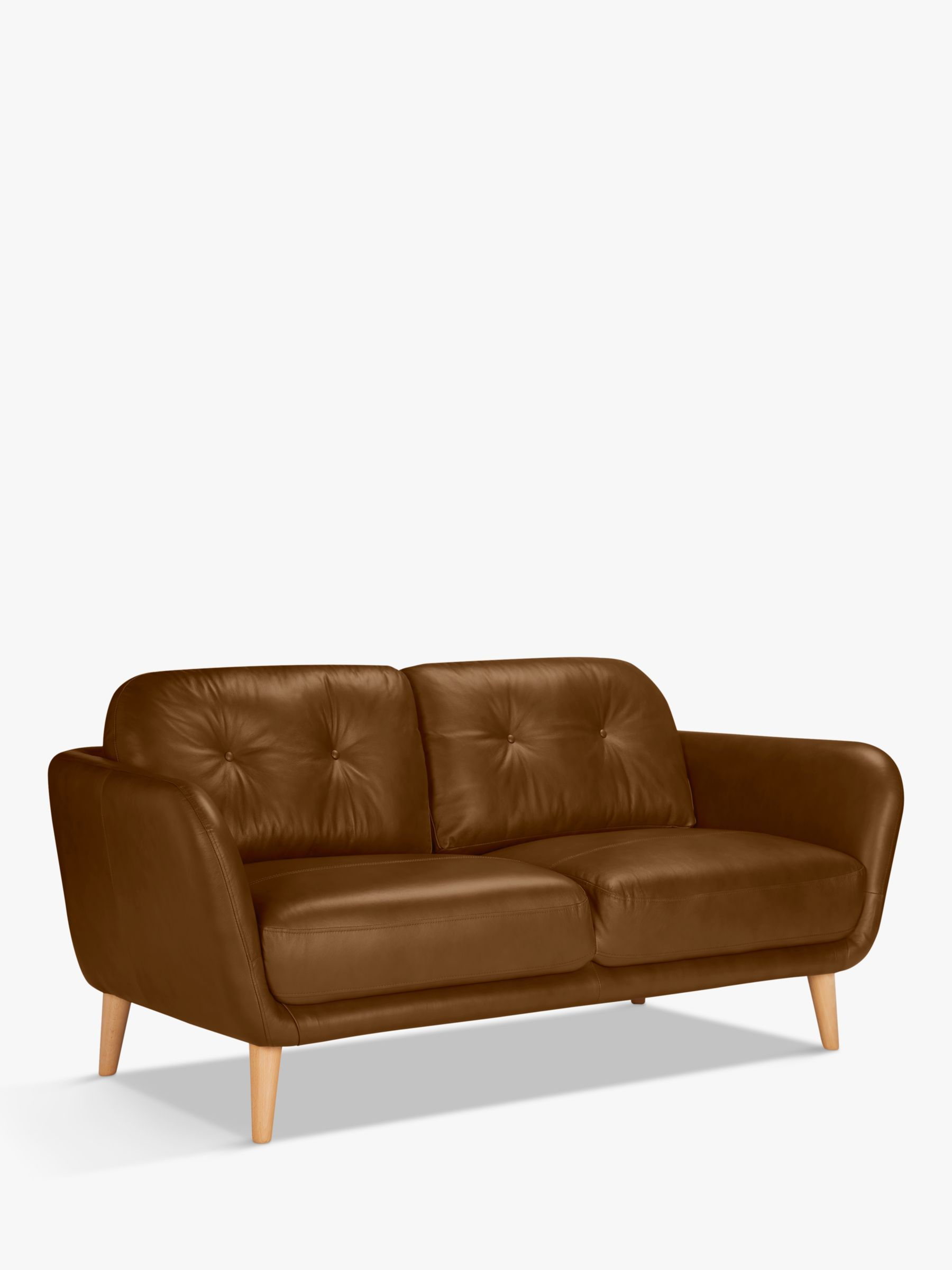House By John Lewis Arlo Medium 2 Seater Leather Sofa Dark Leg Leather Sofa 3 Seater Leather Sofa Sofa
