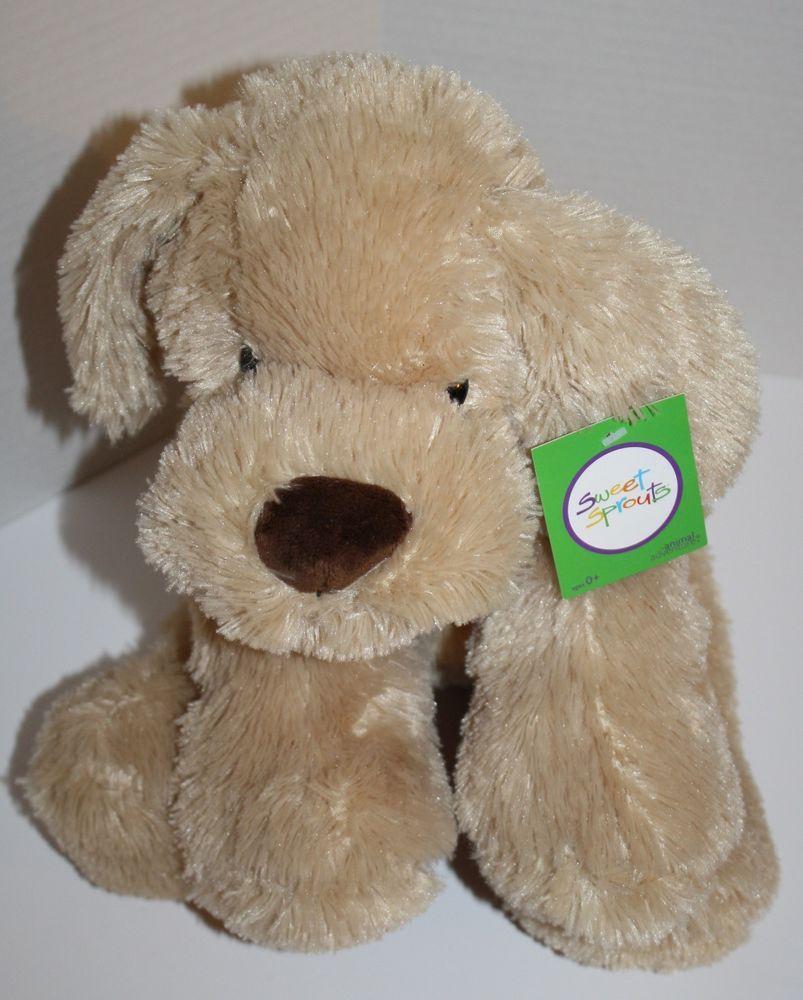 Sweet Sprouts Plush Dog Beige Tan Light Brown Nose Stuffed Animal