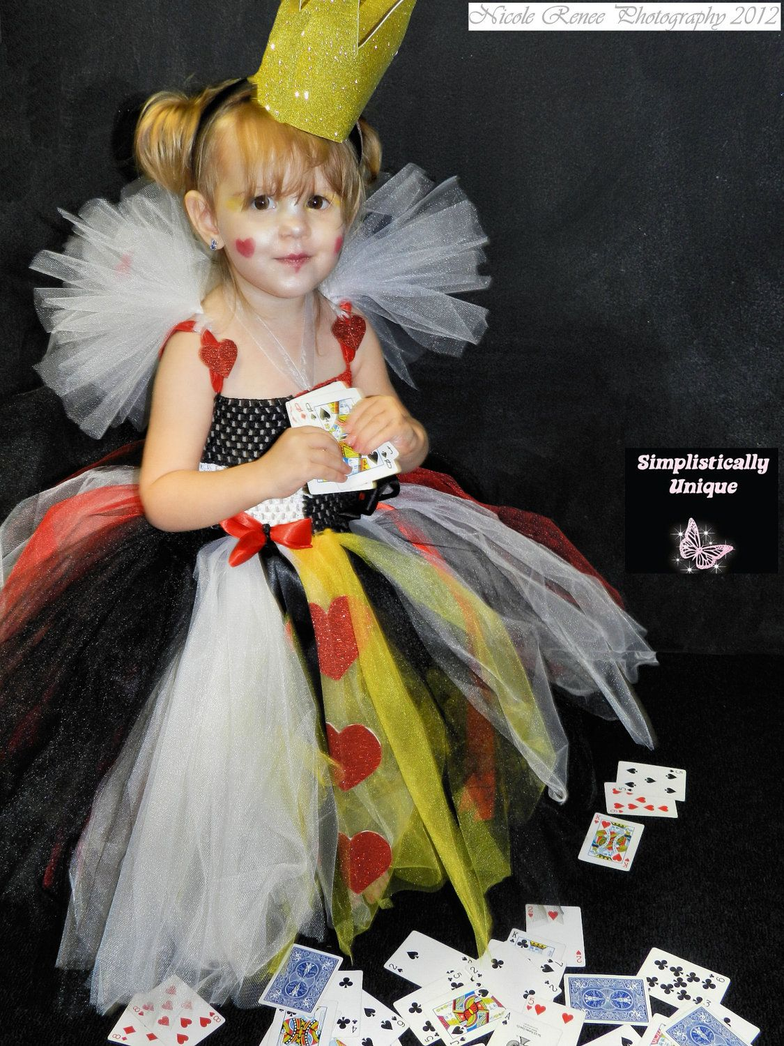 Queen of Hearts Tutu Costume Size 24T by