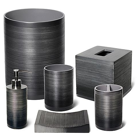 Veratex Ridley Pewter Bath Ensemble Bed Bath Amp Beyond Veratex Bathroom Accessory Sets Bath