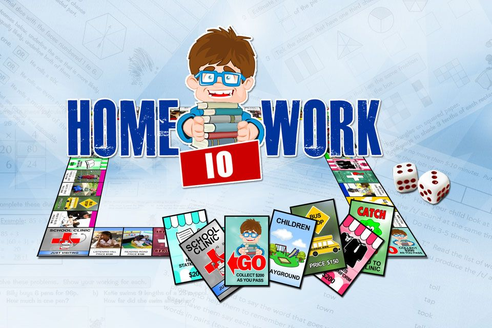 Homework IO is a property trading game about doing homework.   Add your photos, change your cards, and play hard! http://www.opoly.io/