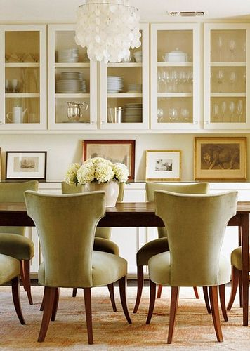 So Classy Loving The Upper Cabinets For Displaying Pretty Dishes Glasses Etc Dining Room