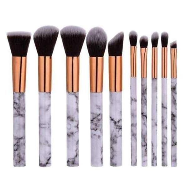 10 Piece Marble Brush Set Makeup Brush Kit It Cosmetics Brushes Makeup Brush Set