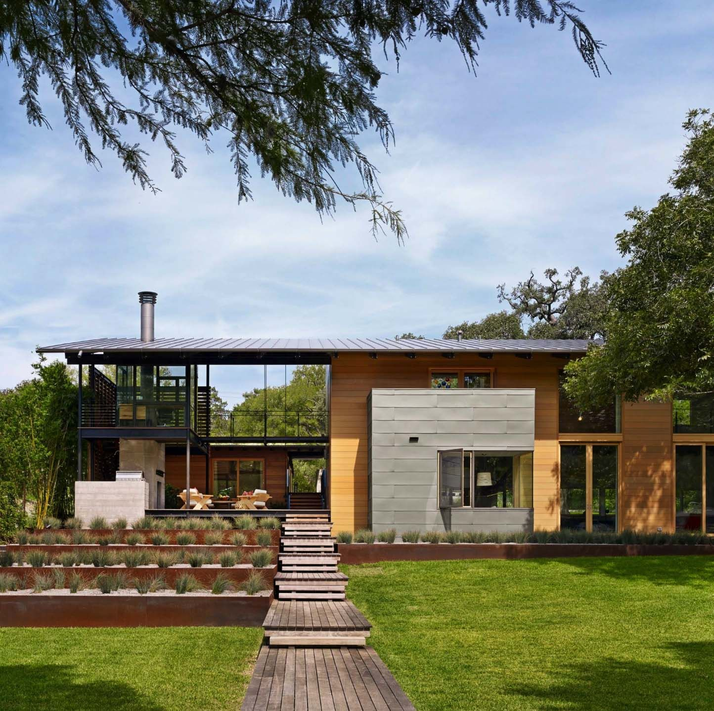 Modern Homes Austin: Fabulous Modern Lakeside Retreat Set On The Shores Of Lake