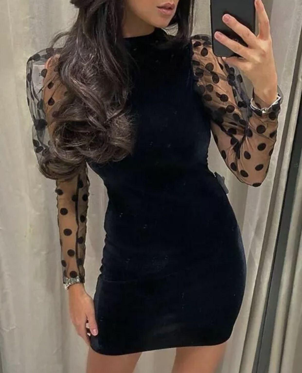 Redd S Little Black Number Long Sleeve Open Back Dress In 2020 Backless Bodycon Dresses Sheer Long Sleeve Dress Bodycon Dress [ 1532 x 1242 Pixel ]