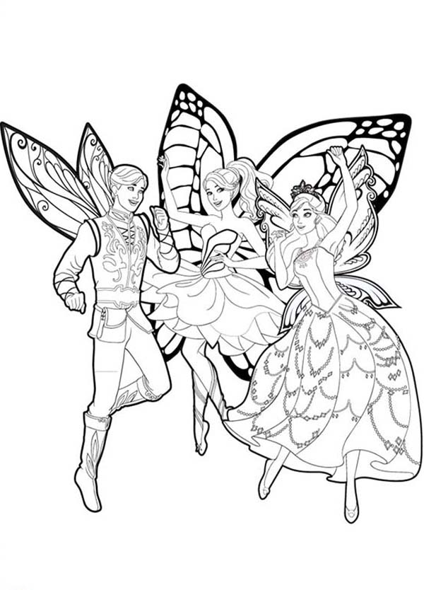 Barbie Mariposa And Her Butterfly Fairy Friends Coloring Pages Bulk Color Barbie Coloring Fairy Coloring Barbie Coloring Pages