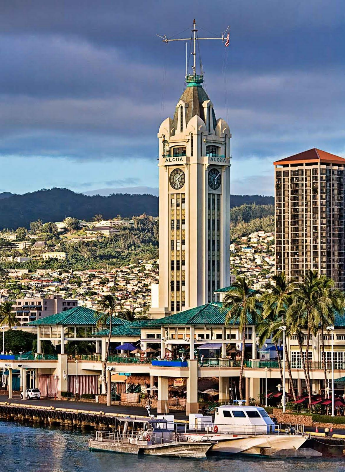 The Aloha Tower is a lighthouse - is one of the landmarks ...