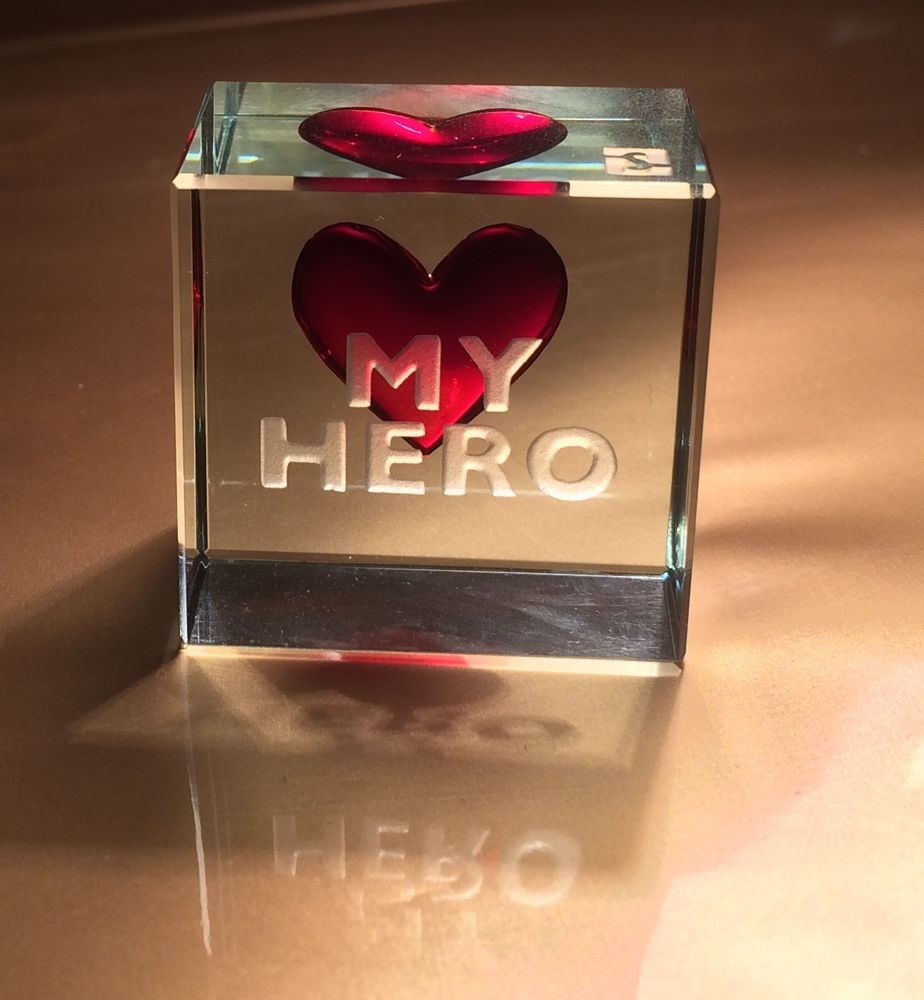Spaceform My Hero Glass Token Romantic Love Gifts Ideas for him ...