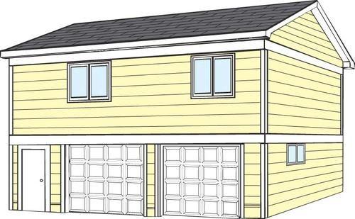 26' x 28' x 8' Garage with 8' Apartment at Menards ...