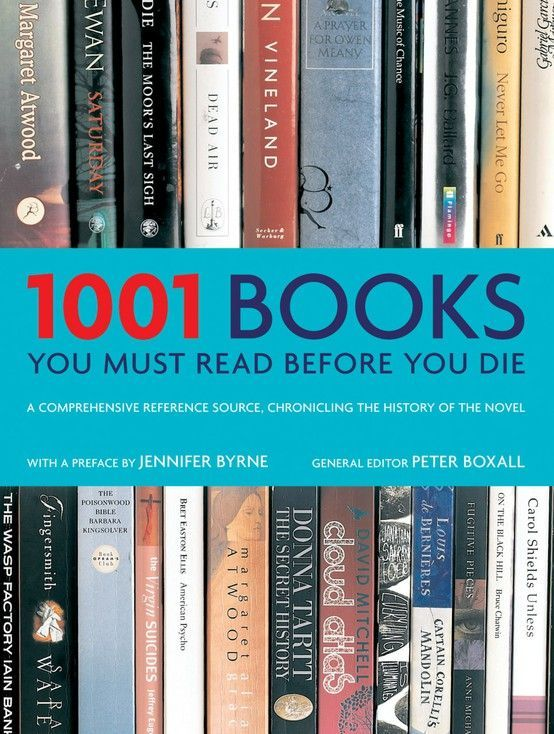 1001 books to read before you die. Also has a good children's book list. I have a LONG way to go! ***Have Read*** 93, 223, 399, 456, 790, 825, 831, 863, 876, 883, 913,