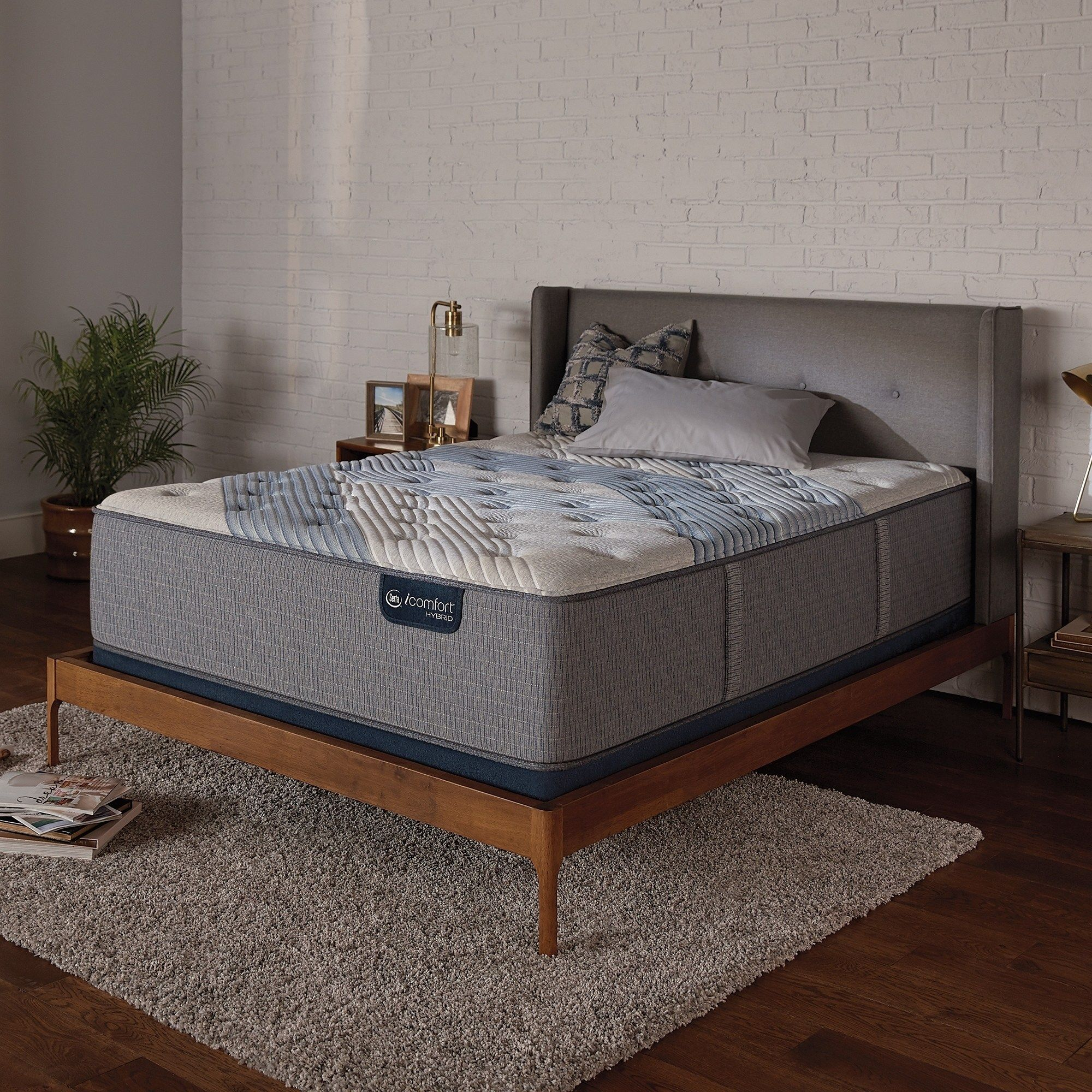 Serta Icomfort Hybrid Blue Fusion 3000 15 Inch Firm Full Size Mattress Full Foundation Not Included Plush Mattress Mattress Sets Mattress Sizes