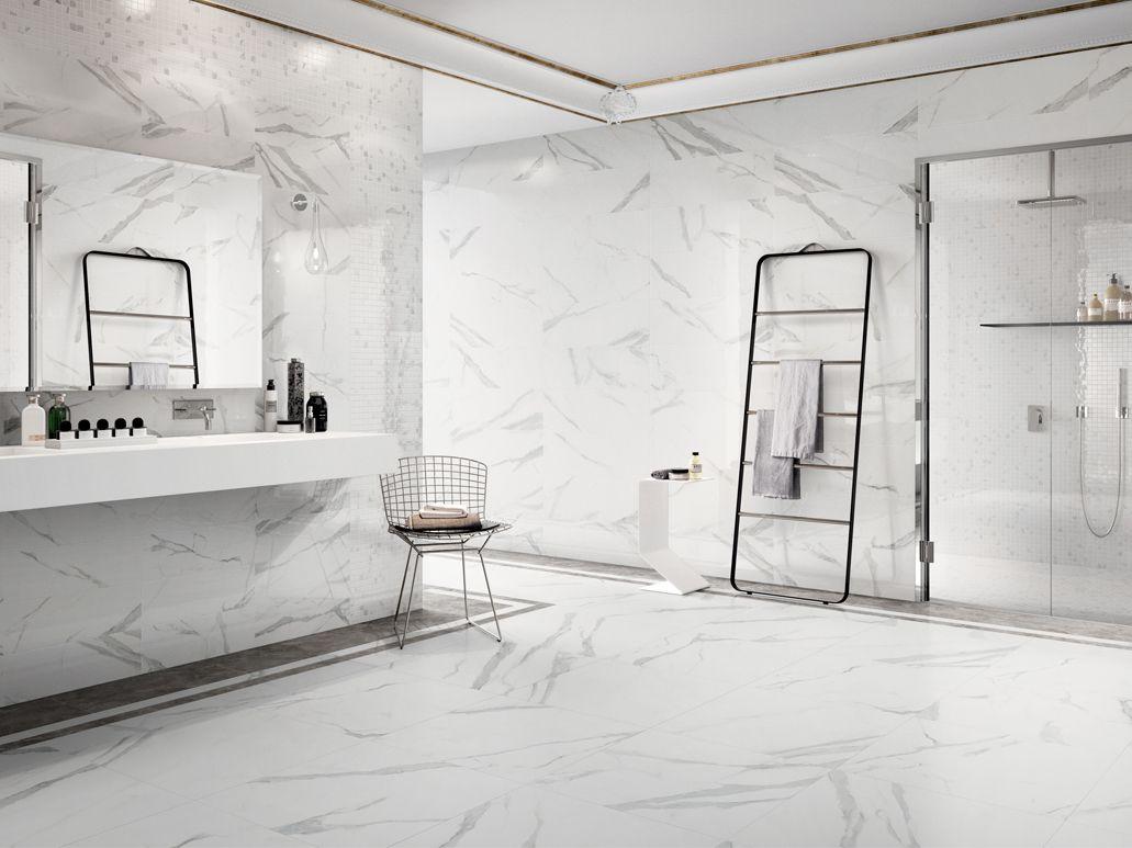Wandtegel badkamer marmerlook | Wandbekleding tegels | Pinterest