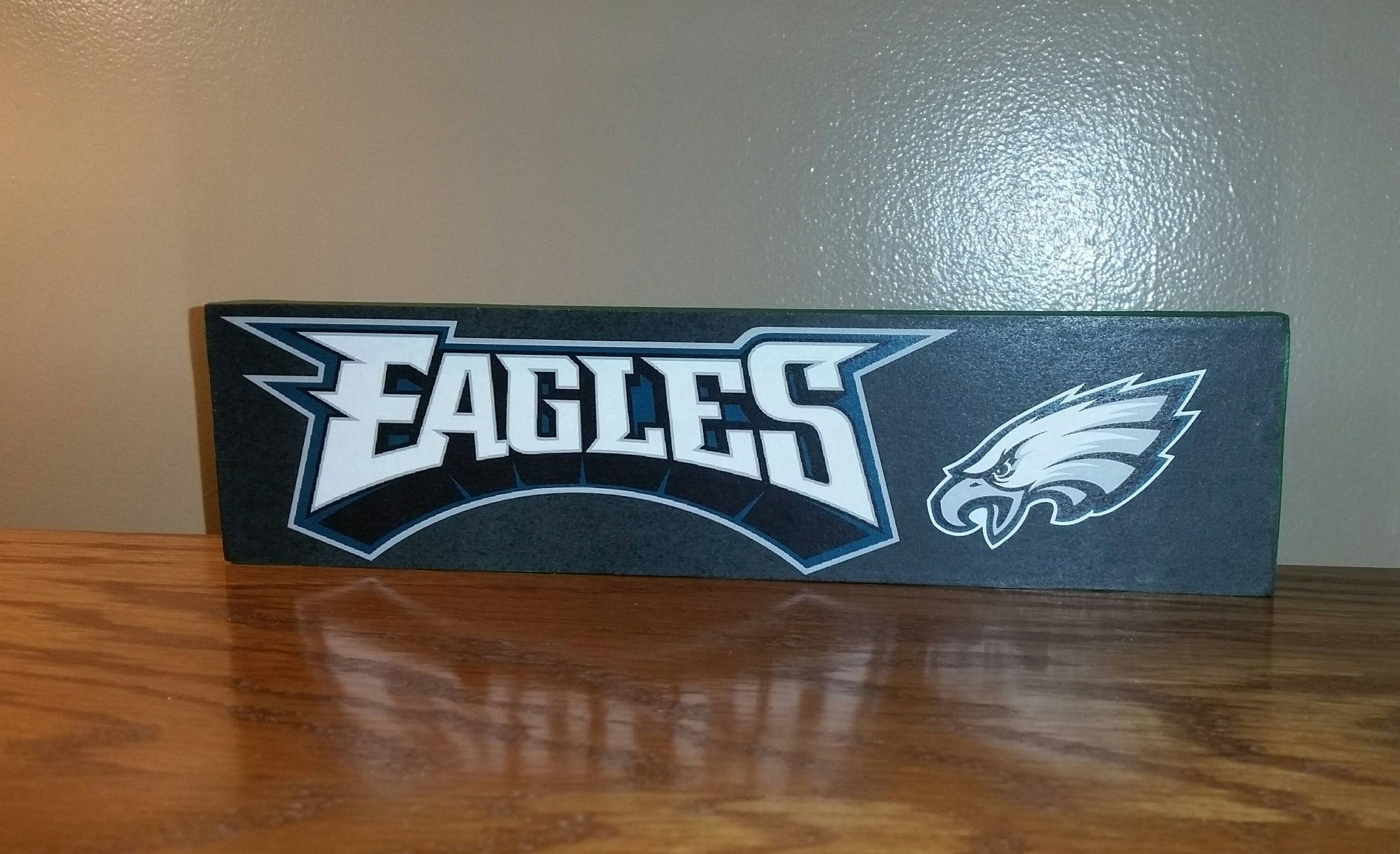 99d20675947 Philadelphia EAGLES wood sign - word art and the Philadelphia Eagles logo.  FREE SHIPPING by CraftsbyMichelleMD on Etsy