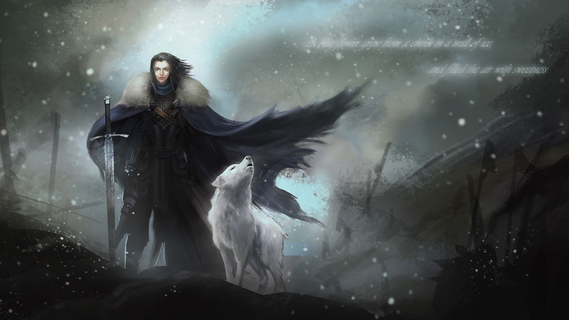 Lord Commander Jon Snow Of The Night S Watch Game Of Thrones Art