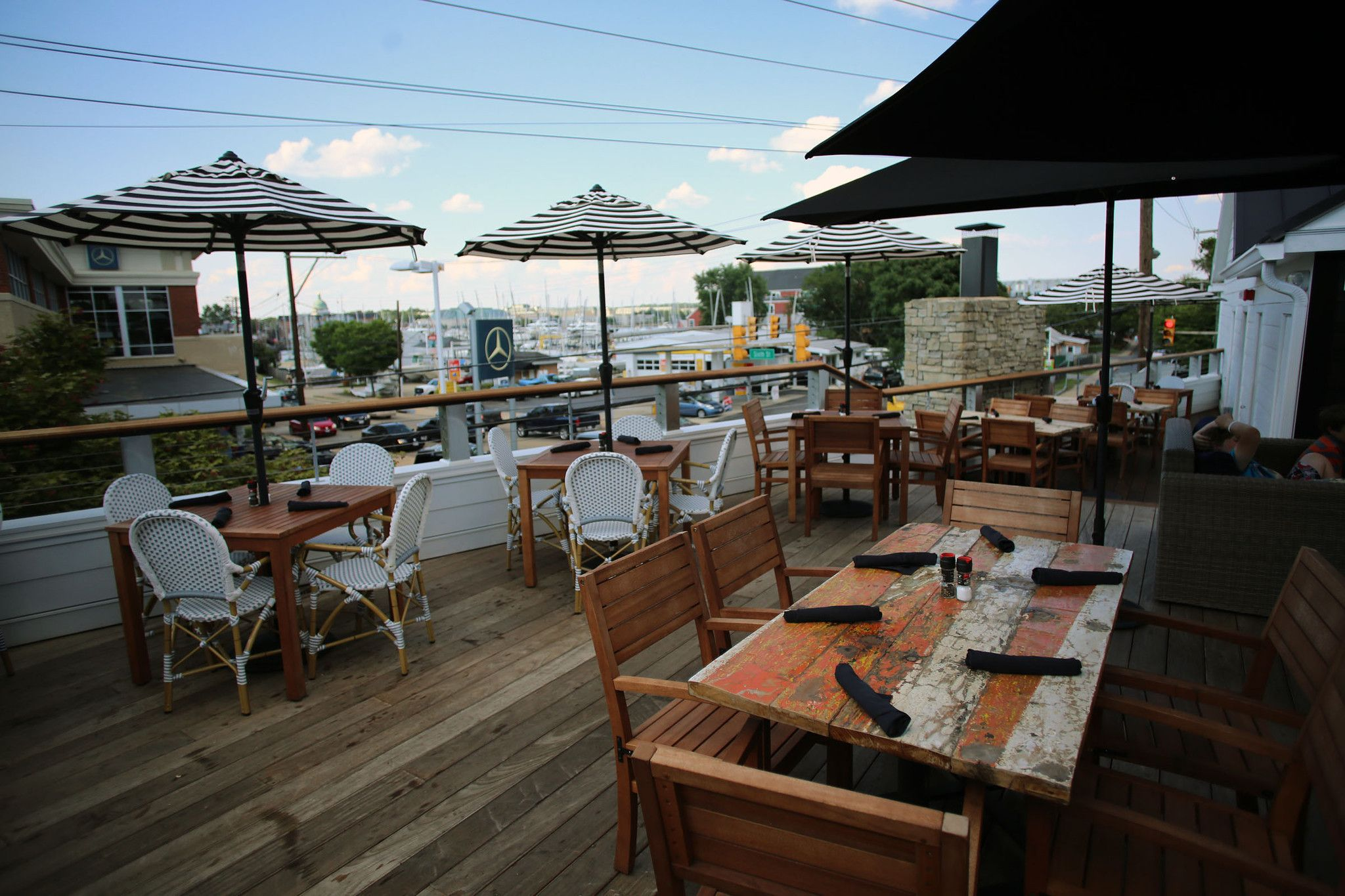 What Better Way To Enjoy The Outdoors Than On A Rooftop Snacking And Sipping These Venues Take Al Fresco Dining And Drin Patio Patio Umbrella Al Fresco Dining