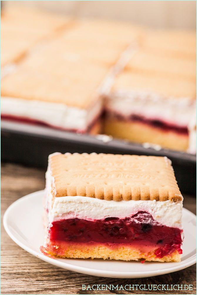 Butterkeks Kuchen Mit Beeren Rezept Desserts Und Kuchen Muffins