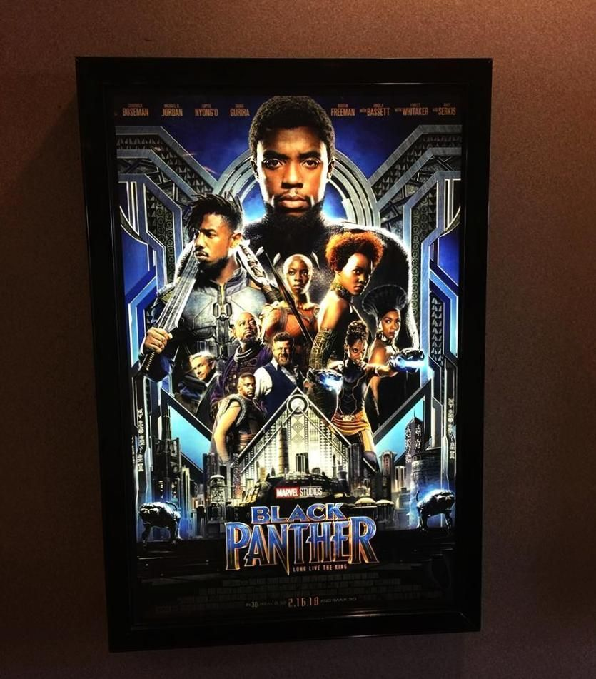 1) 27x40 Custom Premium LED Light Box Movie Poster Display Frame 2 DAY