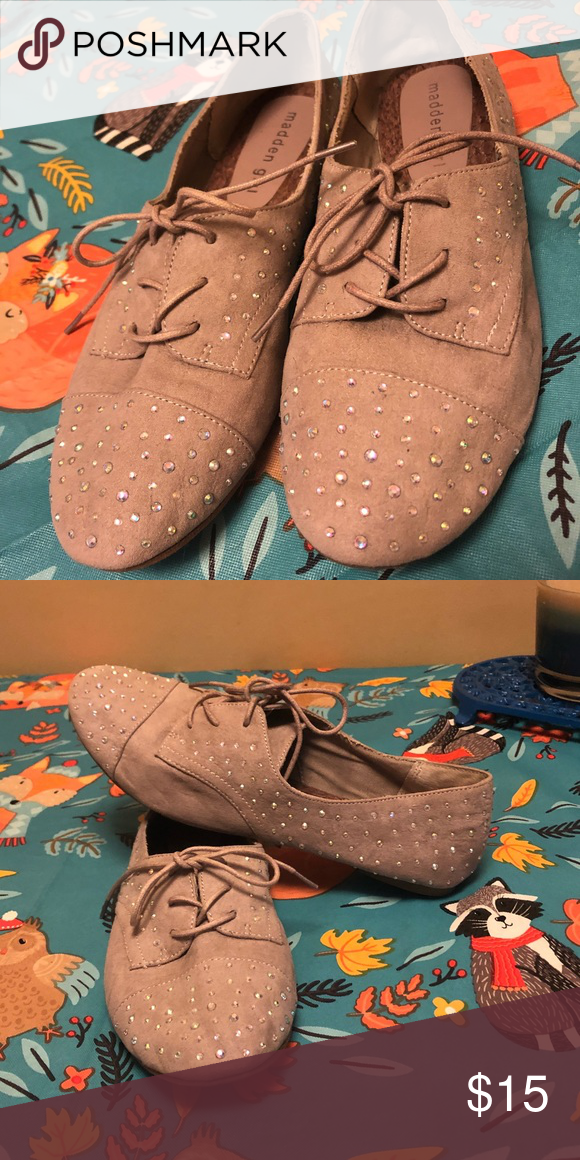 e3f22297c3dd madden girl Rhinestone Oxfords Cute and Flirty Holographic rhinestones! Madden  Girl size 8.5 Would fit