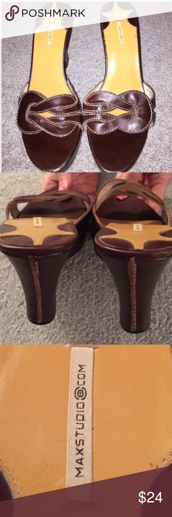 MAX STUDIO SANDALS-nice detail. 6.5. Brown MAX STUDIO SANDALS-nice detail. 6.5. Brown Max Studio Shoes Sandals