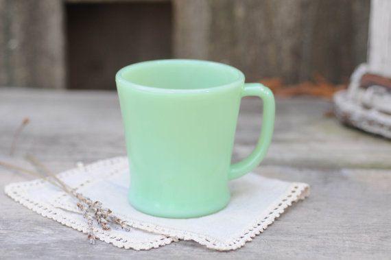 Jadite Mug Fire King Vintage Delicious Pinterest
