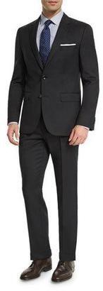 Boss Hugo Boss Johnstons Lennon Tonal-Grid Slim-Fit Basic Suit Black
