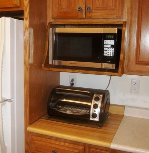 to build a microwave shelf