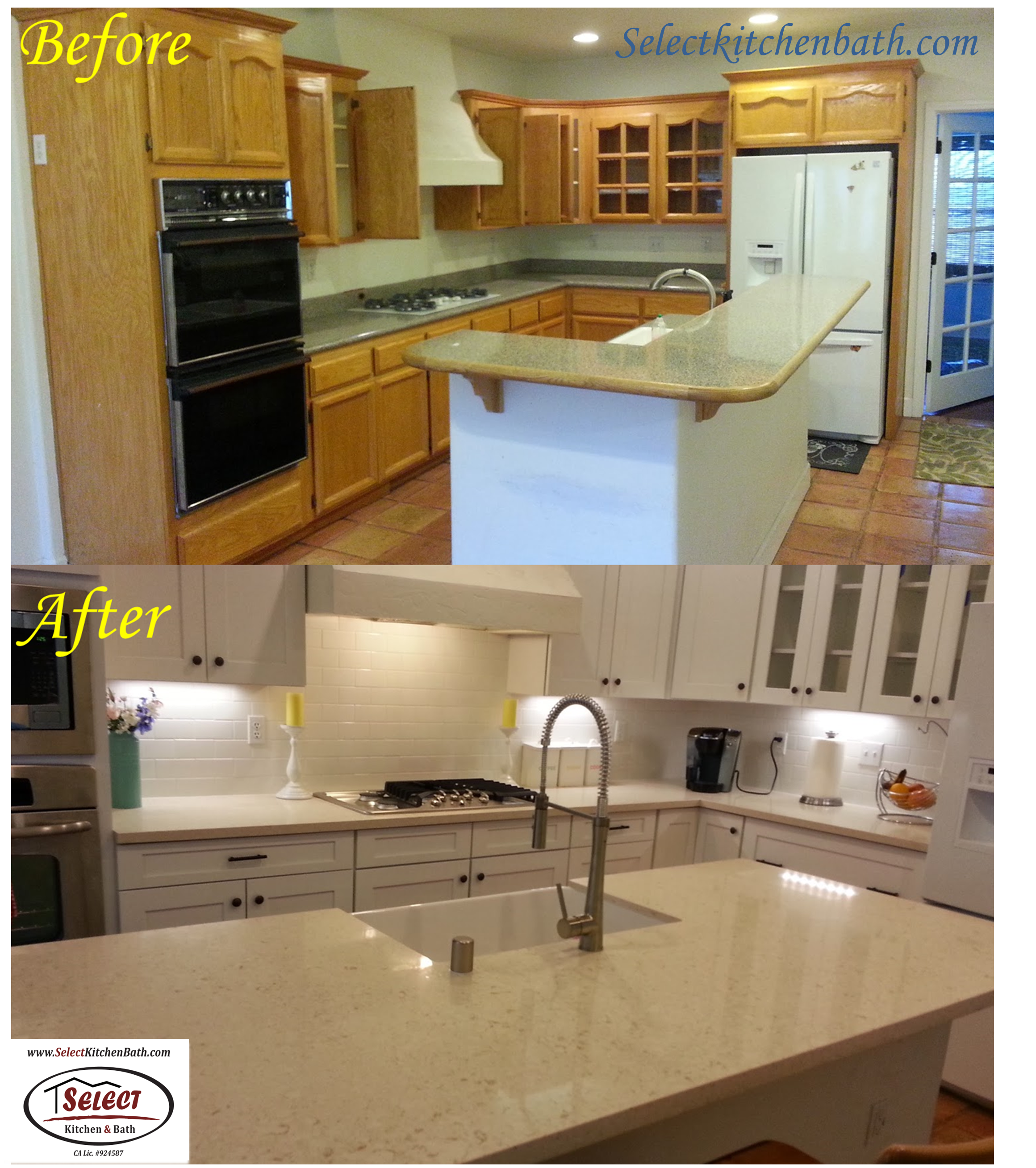 Before & After Kitchen -- new cabinets done Select Kitchen ...