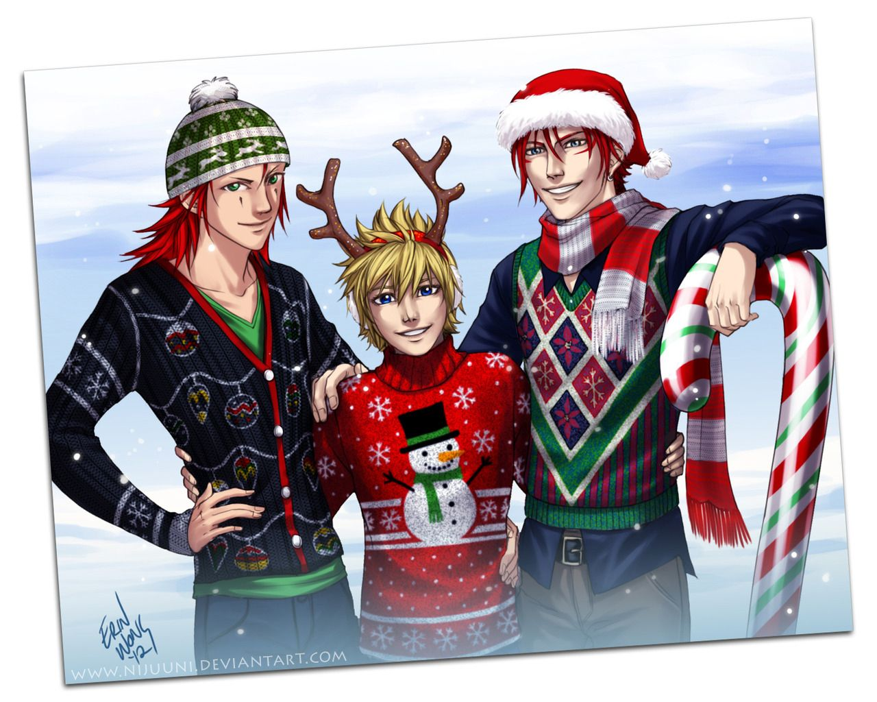ARR - Christmas Sweaters by Nijuuni.deviantart.com on @deviantART ...