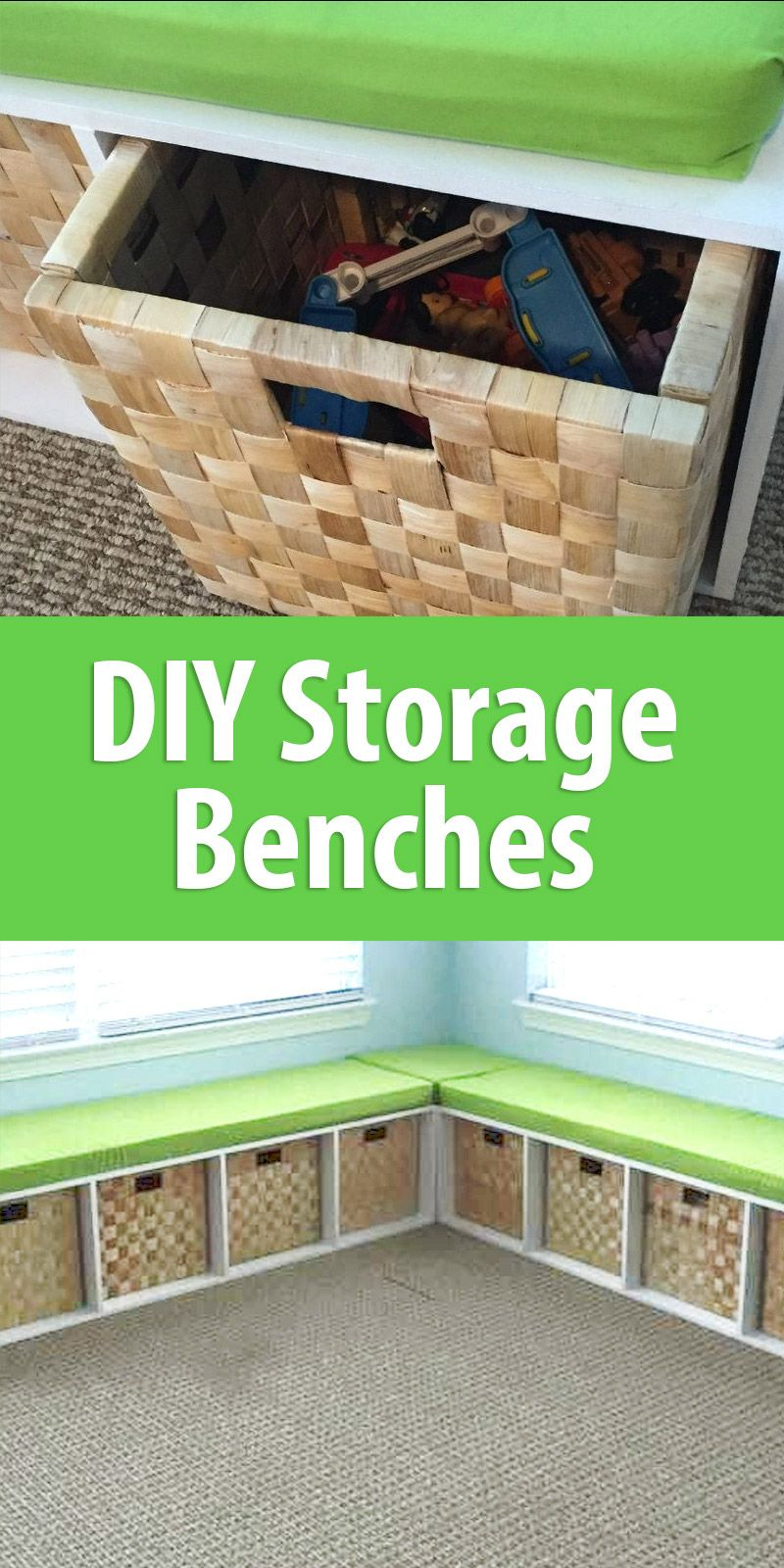 DIY Storage Benches | Organization | Diy storage bench seat ...