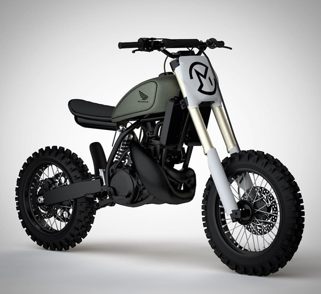 quite excited about this concept for the 1988 cr nearly ready for the rebuild cr250 cr500 scrambler streetscrambler flattracker  [ 1080 x 990 Pixel ]