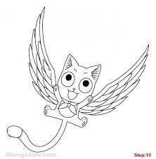 Resultado De Imagem Para Drawing Happy Fairy Tail Fairy Tail Art Fairy Tail Happy Cartoon Drawings
