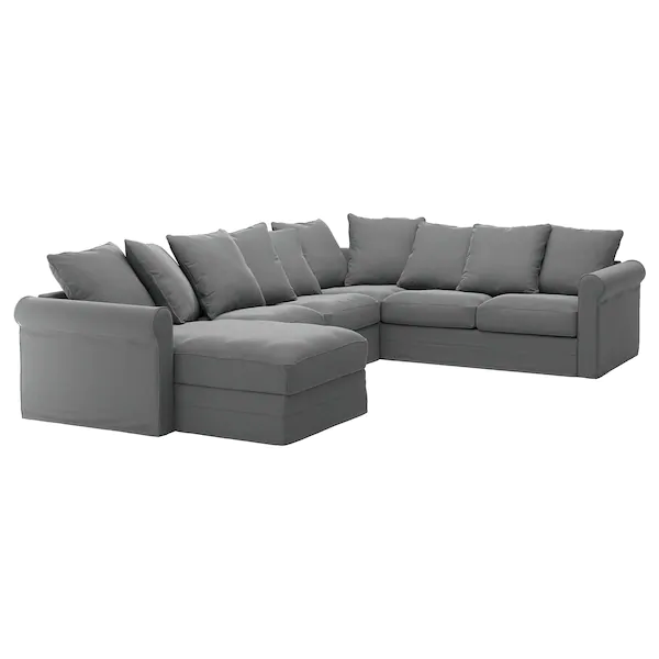 Gronlid Sectional 5 Seat Corner With Chaise Ljungen Medium Gray Ikea In 2020 Corner Sofa Corner Sofa Chaise Sectional