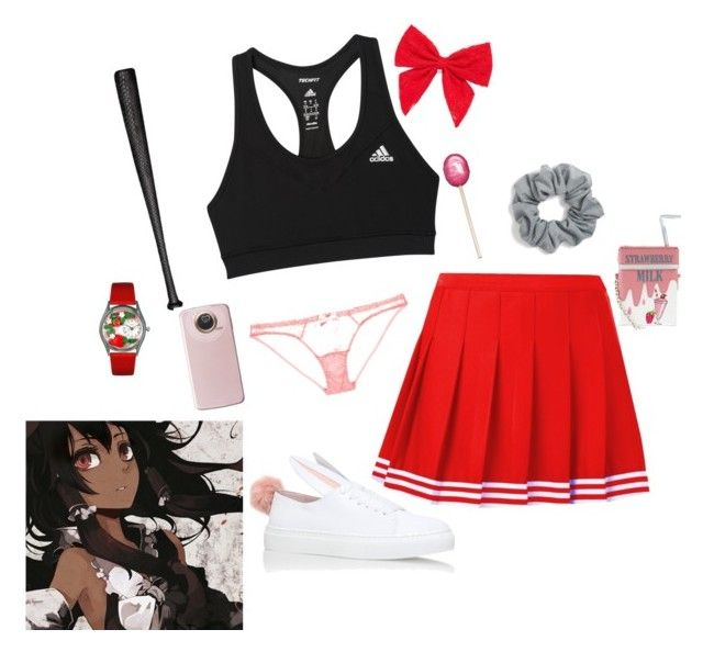 """mirai nikki OC (pandora)"" by roseyswan ❤ liked on Polyvore featuring adidas, L'Agent By Agent Provocateur, Minna Parikka, Carole, Natasha Couture, Elisabeth Weinstock, Accessorize and Whimsical Watches"
