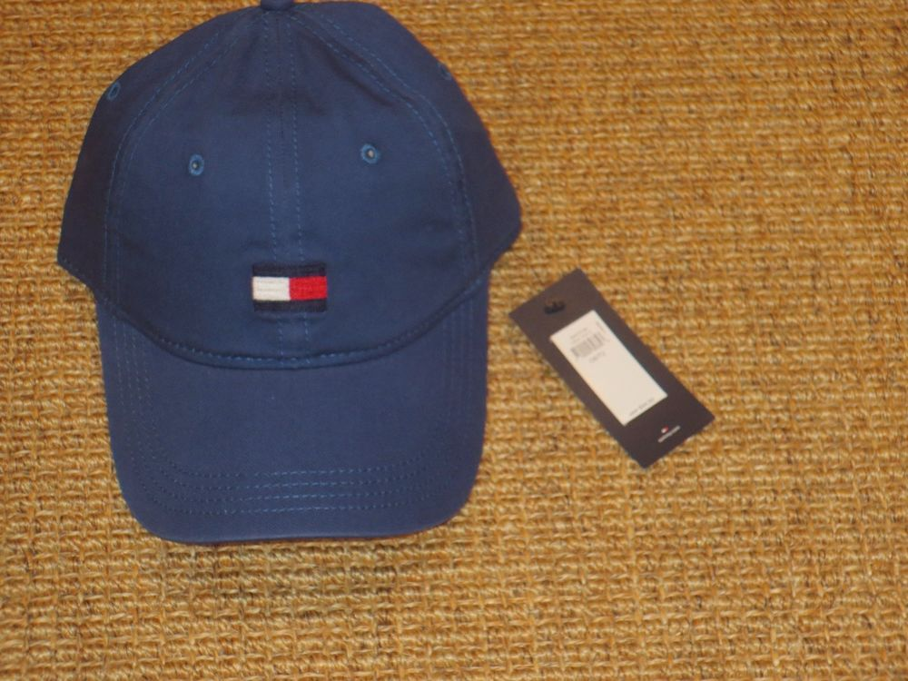 e74004c1 TOMMY HILFIGER BASEBALL CAP MEN'S BIG FLAG LOGO BLUE ADJUSTABLE AUTHENTIC  NEW #TommyHilfiger #BaseballCap