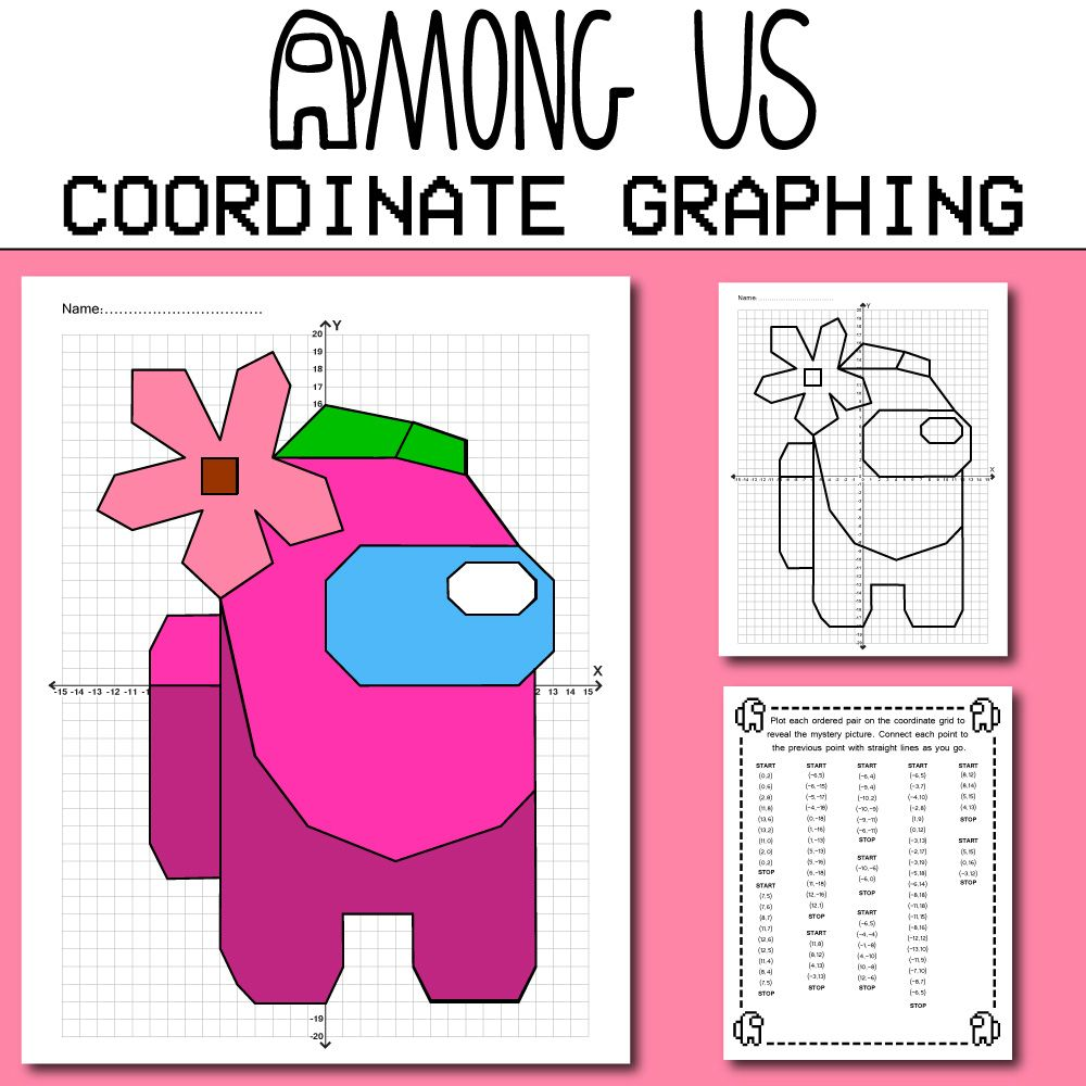 Among Us Coordinate Graphing Picture   Among Us Math ...