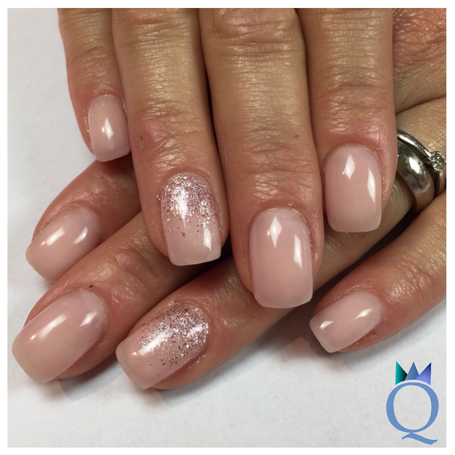 shortnails #gelnails #nails #natural #glitter #kurzenägel #gelnägel ...