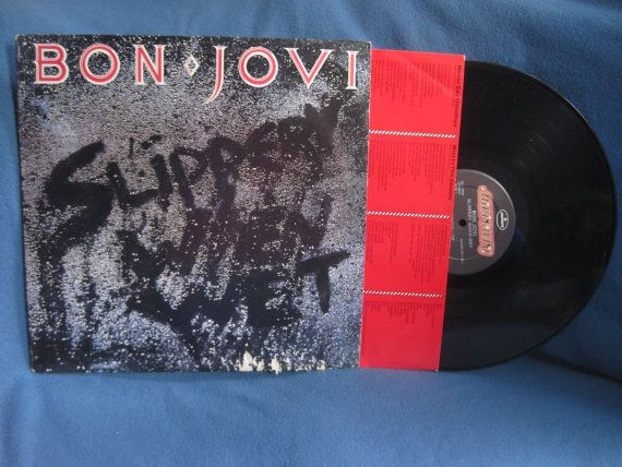 Your Place To Buy And Sell All Things Handmade Bon Jovi Slippery When Wet Vinyl Sales